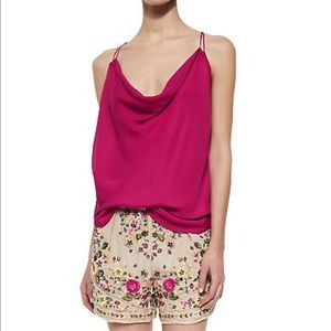 Haute Hippie NWT French kiss pink cow neck tank